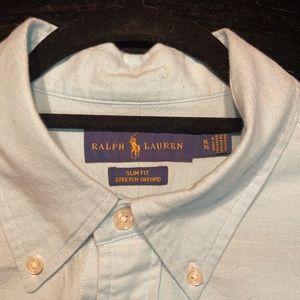 Ralph Lauren Men's Baby Blue Button Down Shirt
